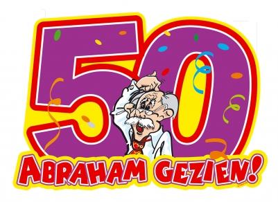 Deurbord 50 Abraham Gezien Feestartikelen Feestreus Nl