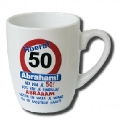 tekst 50 jaar abraham mok tekst 50 jaar | Feestartikelen feestreus.nl. Slingers  tekst 50 jaar