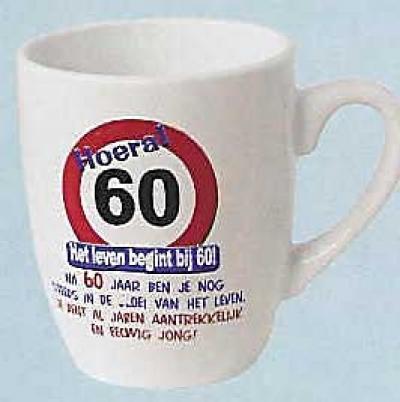tekst 60 jaar mok tekst 60 jaar | Feestartikelen feestreus.nl. Slingers  tekst 60 jaar